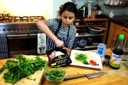 Iris cooks Thai Duck Curry