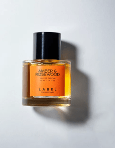 amber y rosewood label