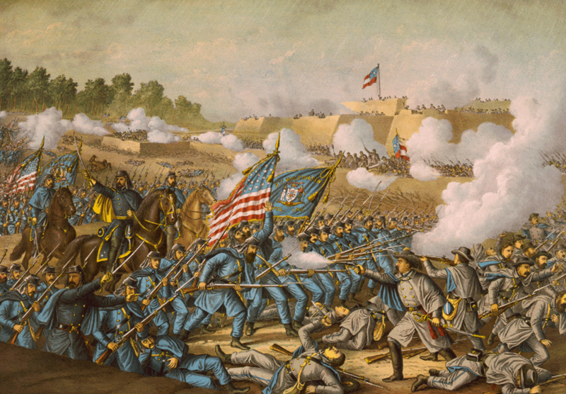 Battle of Williamsburg, 5th May 1862 (Kurz and Allison, 1893)