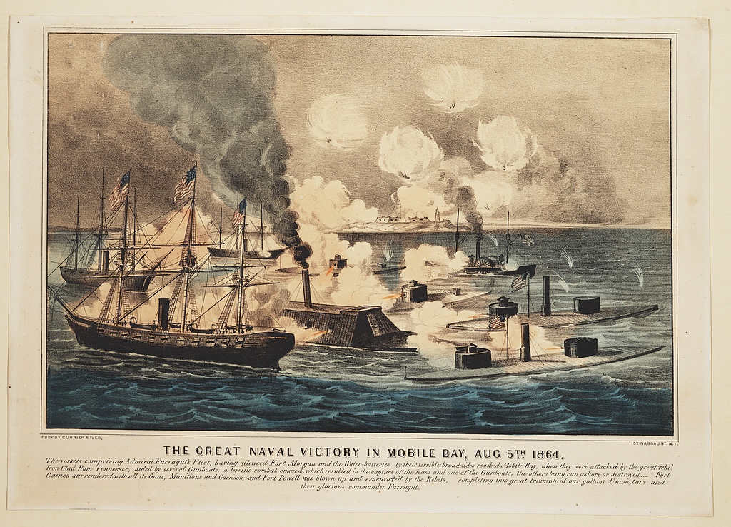 The Great Naval Victory at Mobile Bay by Currier & Ives (Library of Congress)