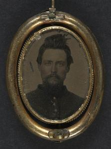 The portrait of a soldier kept forms a keepsake for those he has left behind (Library of Congress)