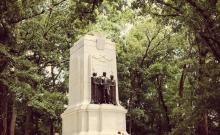 The Illinois Monument at the Dead Angle, Kennesaw Mountain Battlefield (Damian Shiels)