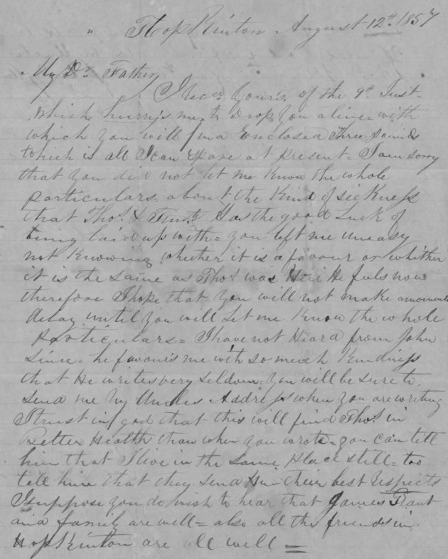 The first of the Charles Greaney letters home to Kerry from Massachusetts (Fold3/NARA)