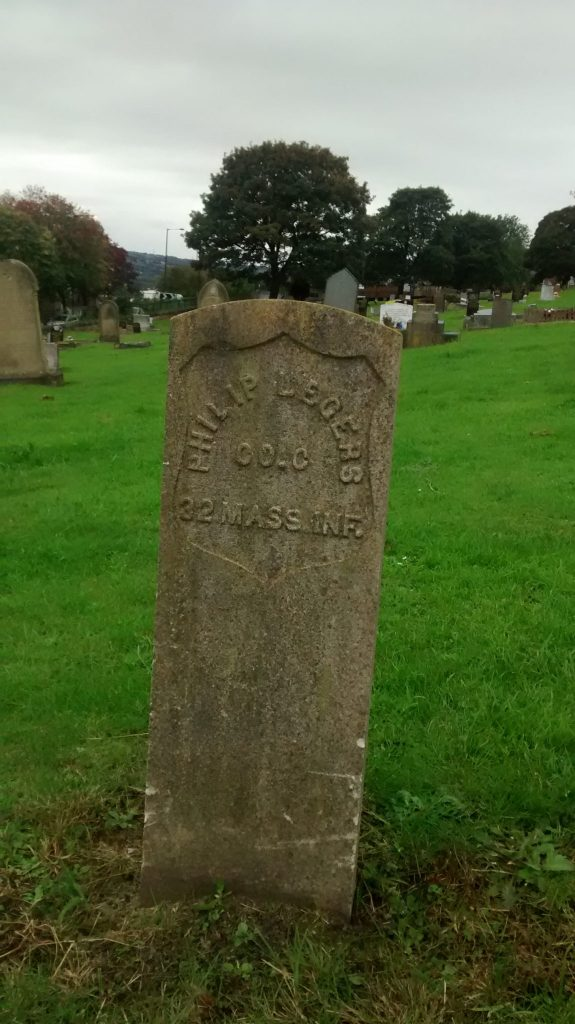 Philip Legers Headstone