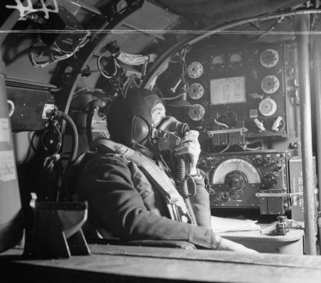 A 57 Squadron wireless operator photographed in 1943 (Imperial War Museum CH8790)