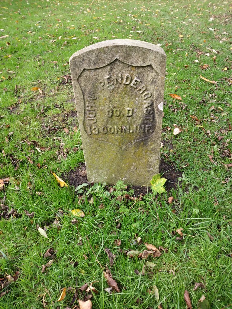 The headstone of John Pendergast at Preston Cemetery, North Shields (Image by kind permission of Michael Scott)