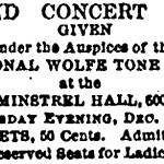 Wolfe Tone Fenian Concert