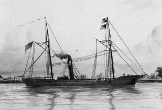 SS Kathahdin, the vessel on which James Power served (US Naval Historical Center)