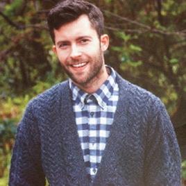 Carraig Donn 100% Merino Wool Mens' 6-Button Cardigan