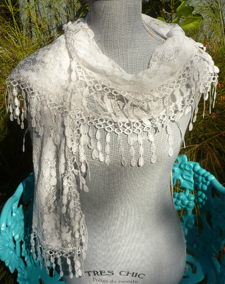 YOU'LL LOVE IT! All Handwork White Irish Lace Scarf - $28.00