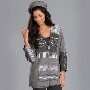 Tivoli Grey Jacket with Stripes - $95.00