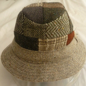 Hanna Hats Specks Patchwork Tweed Walking Hat X-Large - $62.00