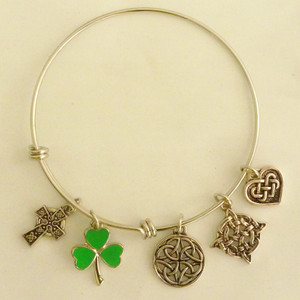 Authentic Irish Pewter 5-Charm Bracelet - $22.00