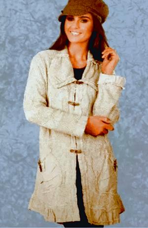Tivoli Linen Long Jacket with Pockets - $145.00