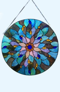 Drop-Dead Gorgeous Fairy Pool Stained Glass Window - $250.00
