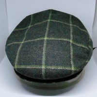 This is a SMALL Hanna Olive Squares Cap. Nice for the Ladies, Too! $45.00