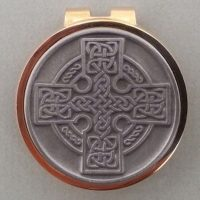 Polished Brass and Silver Celtic Cross Money Clip – Great Gift! $36.00