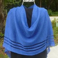 4-Seasons Royal Blue Poncho, 100% Irish Linen, Authentic Irish $68.50