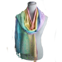 Sweet! Springtime Pastel Pashmina Shawl – Just In! $28.00