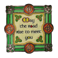May The Road Rise Up to Meet You – Celtic Threads Hand-Painted Wall Plaque $32.00