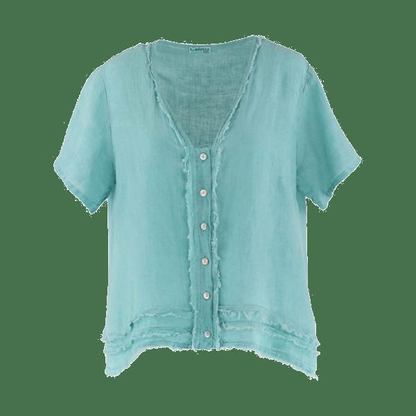 Cadenza Italy Front Button Tunic/Jacket – Egg Shell Blue $65.00