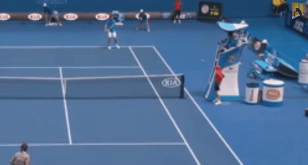 Ball Kid gets hit in the face 2014 Australian Open YouTube