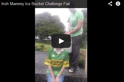 WATCH Irish Mammy Ice Bucket Fail It s Shifted