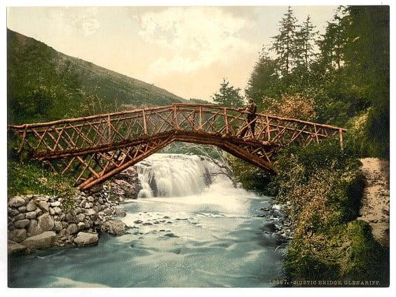 Rustic Bridge in Glenariff - Pictures of Ireland