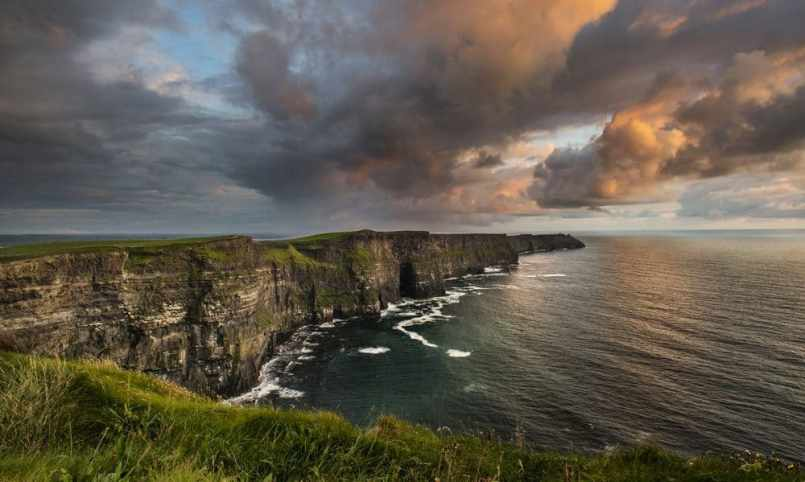 Cliffs of Moher in County Clare are Most beautiful places to visit in Ireland.
