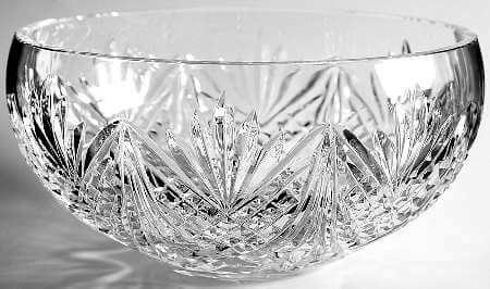 Perfect Irish gifts for him or her, a waterford cystal bowl