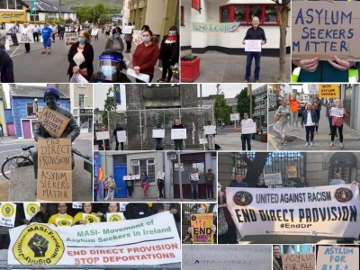 Protests across Ireland in solidarity with asylum seekers in Direct Provision