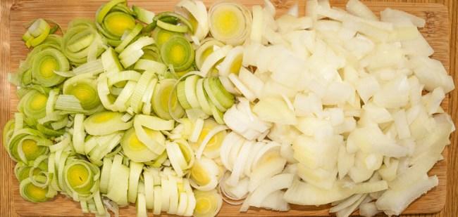 Ingredients for Irish potato soup