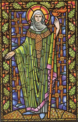 un vitrail Sainte Brigid