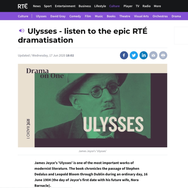 Ulysses - Listen to the pic RTE dramatisation