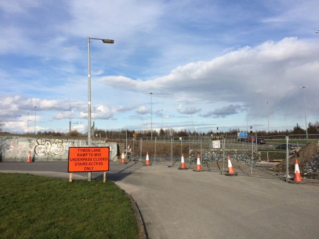 M50-N81 Crossing Tallaght Under Construction