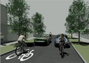 shared street in NTA cycle manual