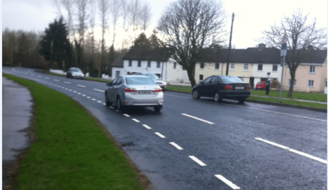 dashed cycle lane no space Castlebar