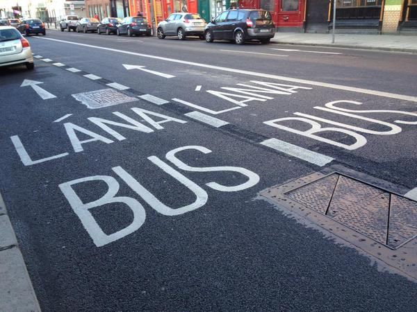 Bus lanes Pearse Street St