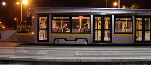 Luas trams are busier than most public transport off-peak, but it is only packed at rush hour and in limited areas outside rush hour