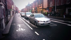IMAGE: Parking Protected contra-flow in Cork (Image by Keith Byrne)