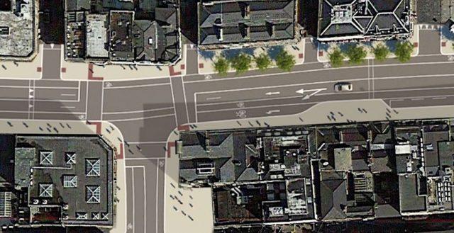 Dame Street - junction