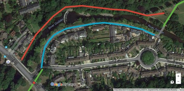 Dodder -- local access - bicycle street example
