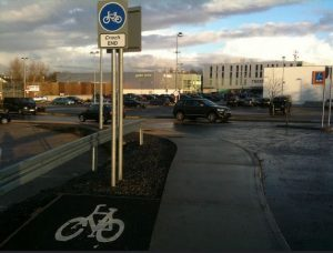 IMAGE: A cycle path ends with nowhere to go.