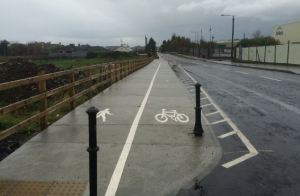 IMAGE: A new build shared footpath in Mayo