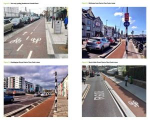 IMAGE: The plan highlights  some of the existing cycle paths and lanes constructed in Cork in recent years.