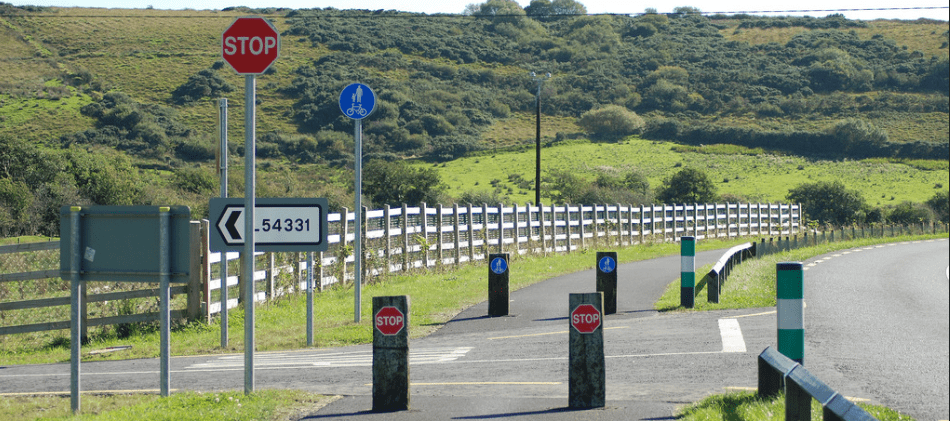 Stop on greenway