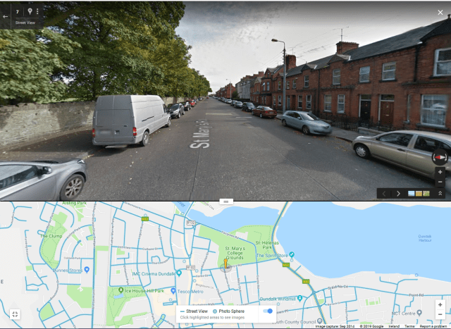 Google Street View of Mary's Road, Dundalk, in 2014