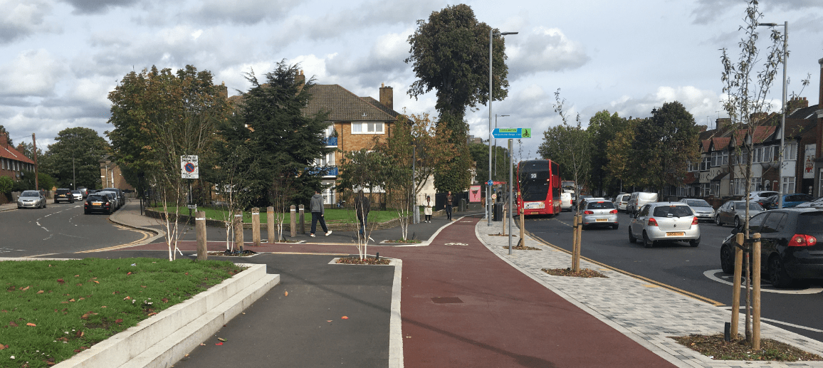 Lee Bridge Road cycle route