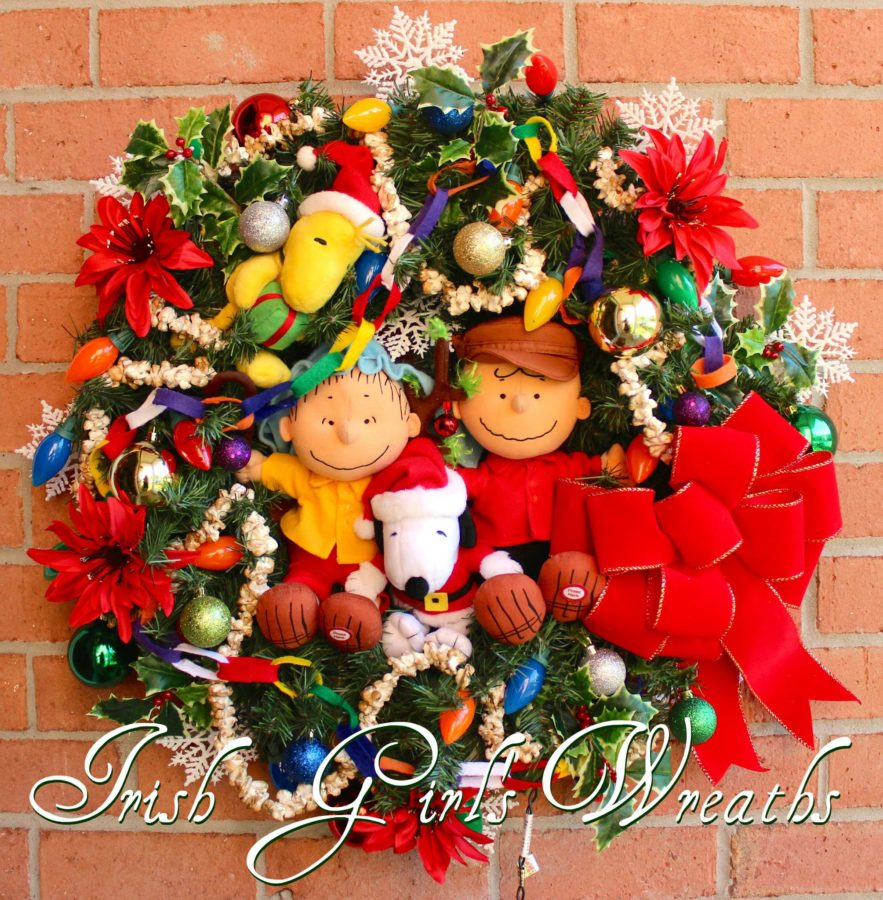 Charlie Brown Christmas Wreath for Sherri