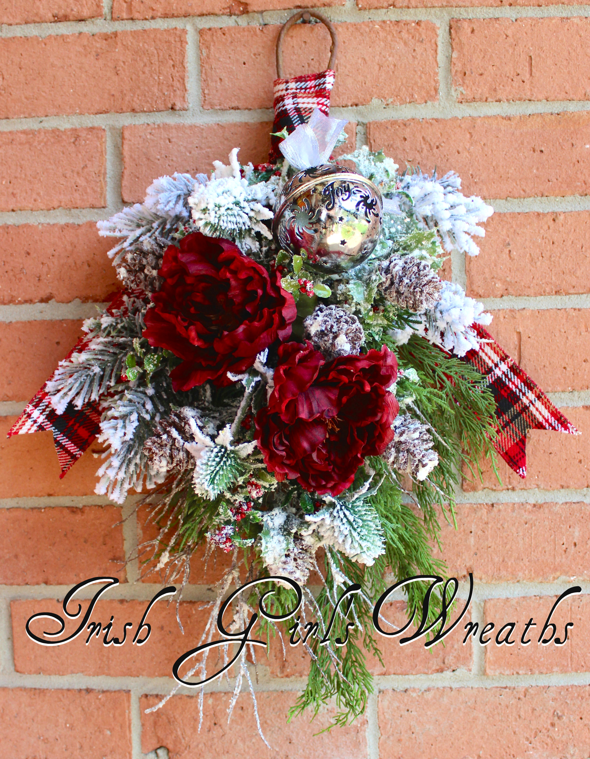 Irish girls wreaths where the difference is in the details rustic winter burgundy floral swag wreath mightylinksfo